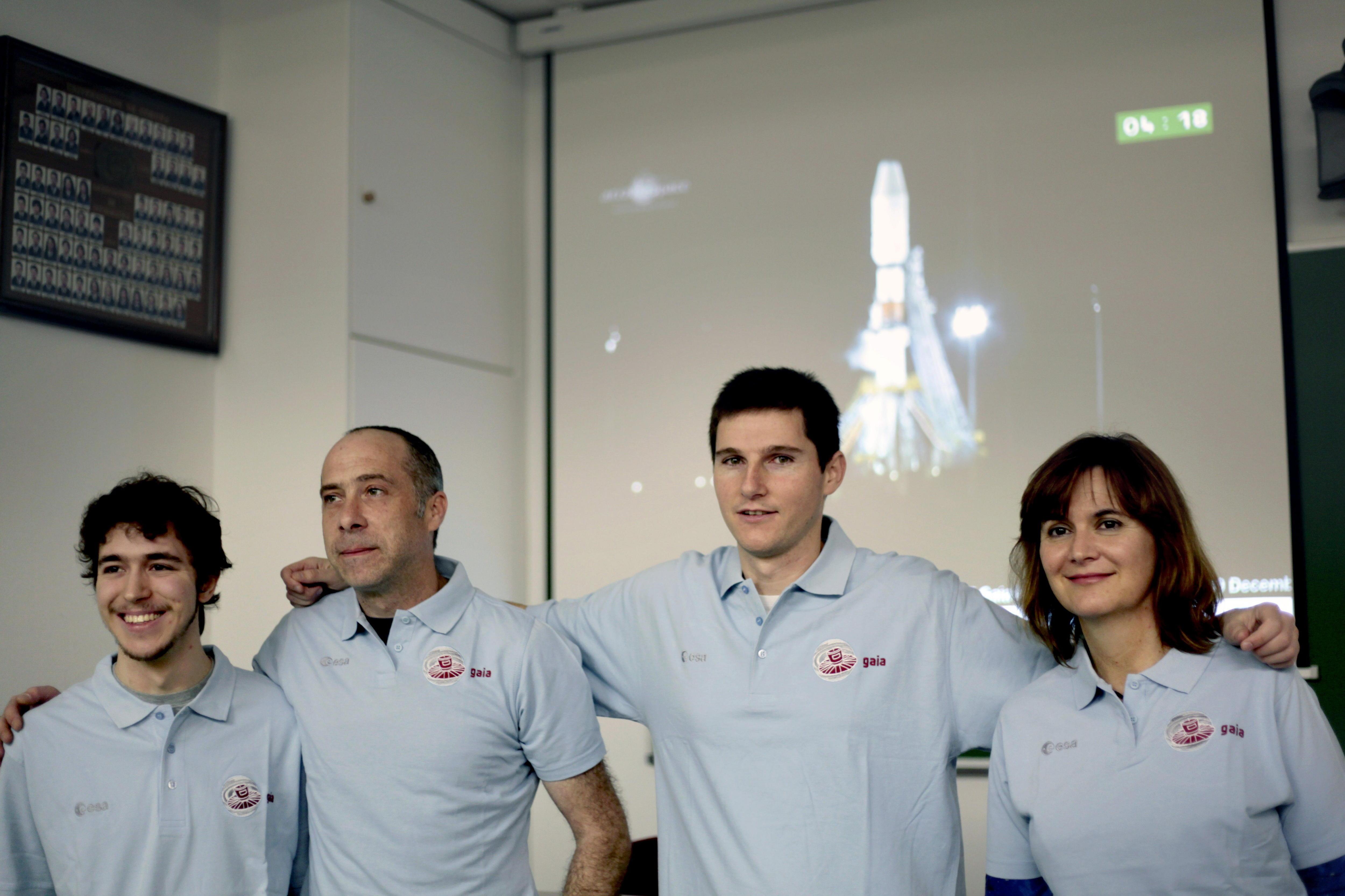 Científicos gallegos celebran el éxito en el lanzamiento del satélite Gaia