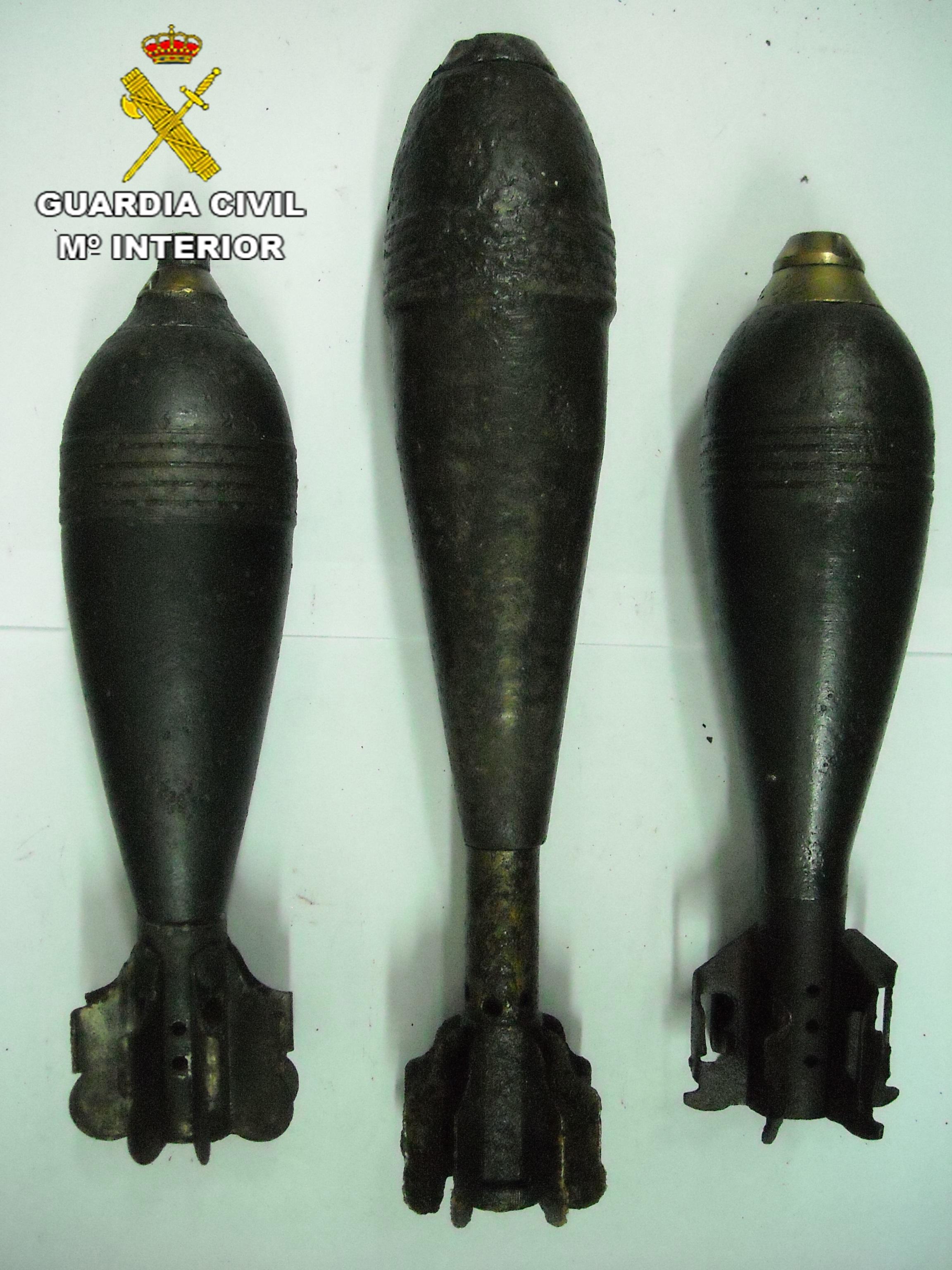La Guardia Civil localiza y desactiva 275 artefactos explosivos en la Comunidad de Madrid durante 2013