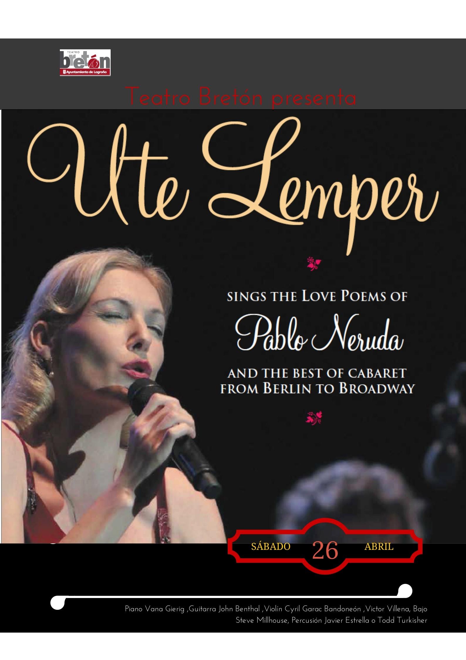 Ute Lemper, Joglars o Concha Velasco, más el nuevo ciclo »Música y arte», hasta junio en el Teatro Bretón