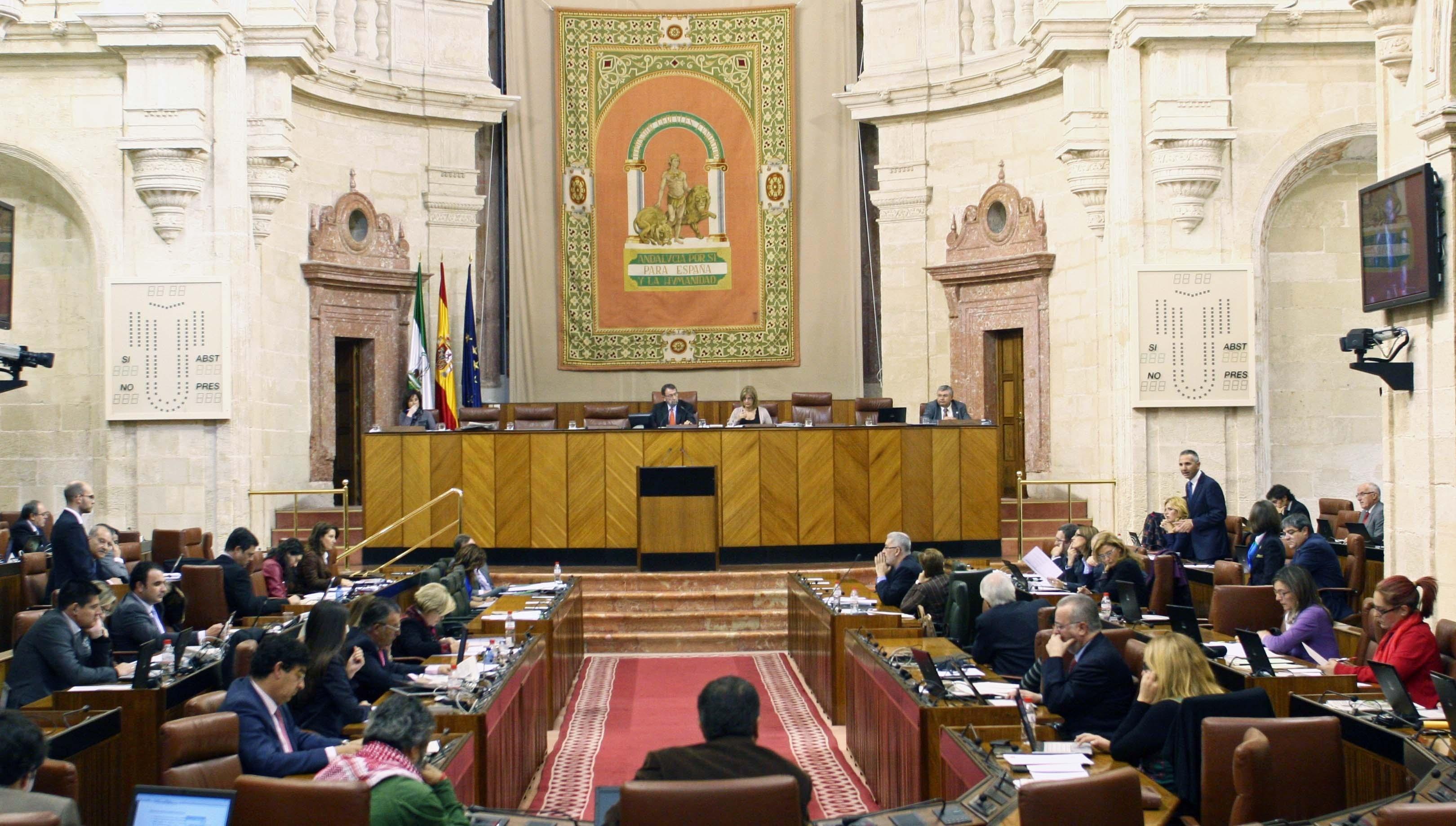 El Parlamento andaluz aprueba el presupuesto de la comunidad para 2014, que es rechazado por PP-A