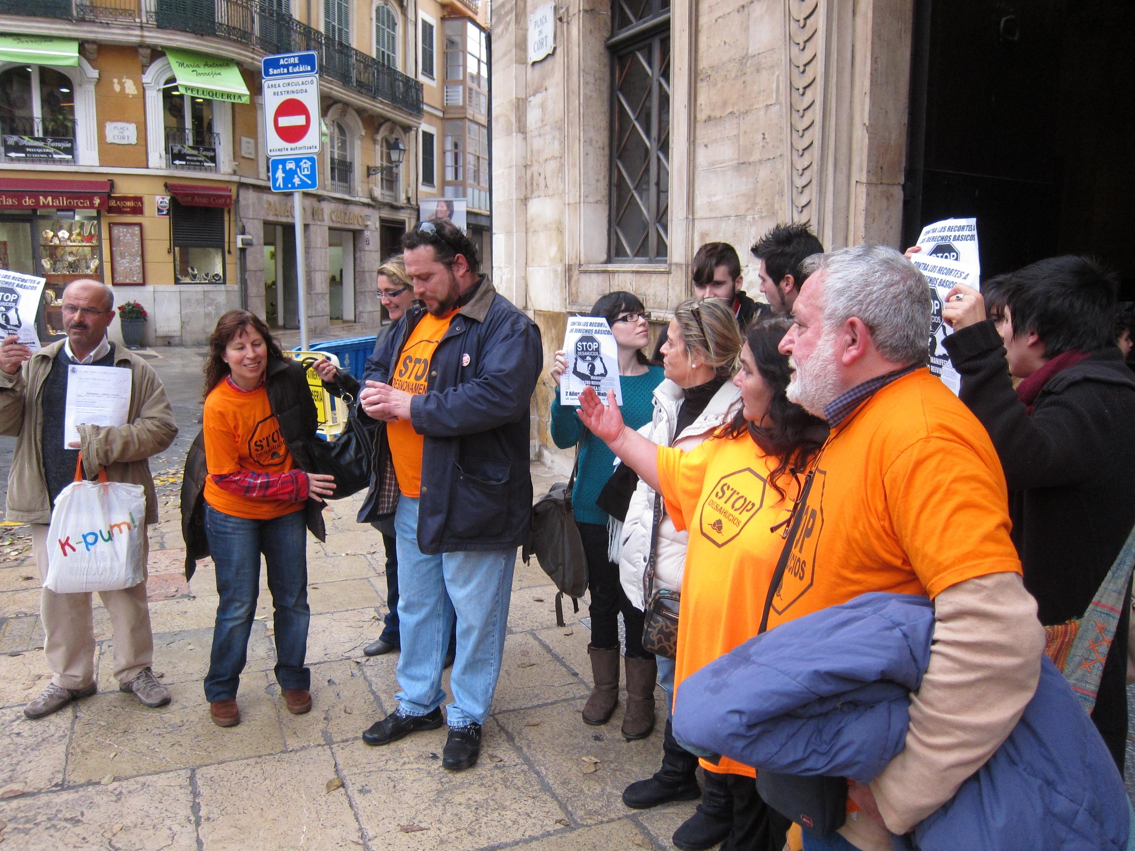Entre tres y cuatro familias son desahuciadas a diario en Palma por no poder pagar la hipoteca