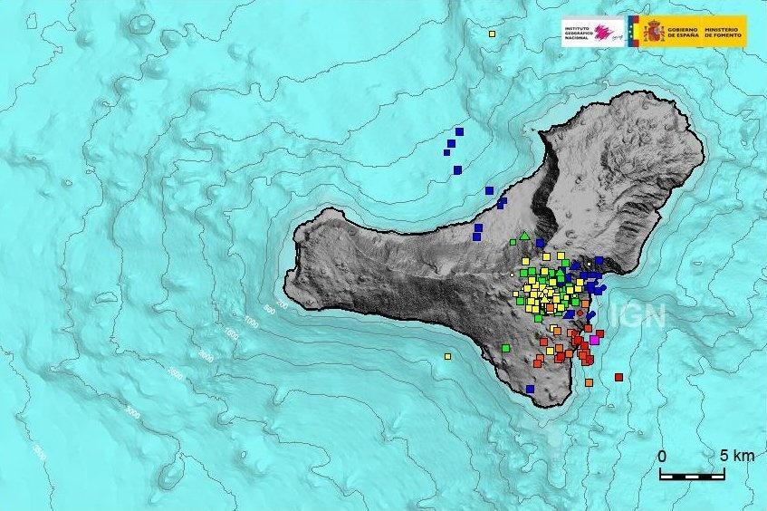 El Hierro registra 31 temblores en las últimas 24 horas, tres sentidos por la población