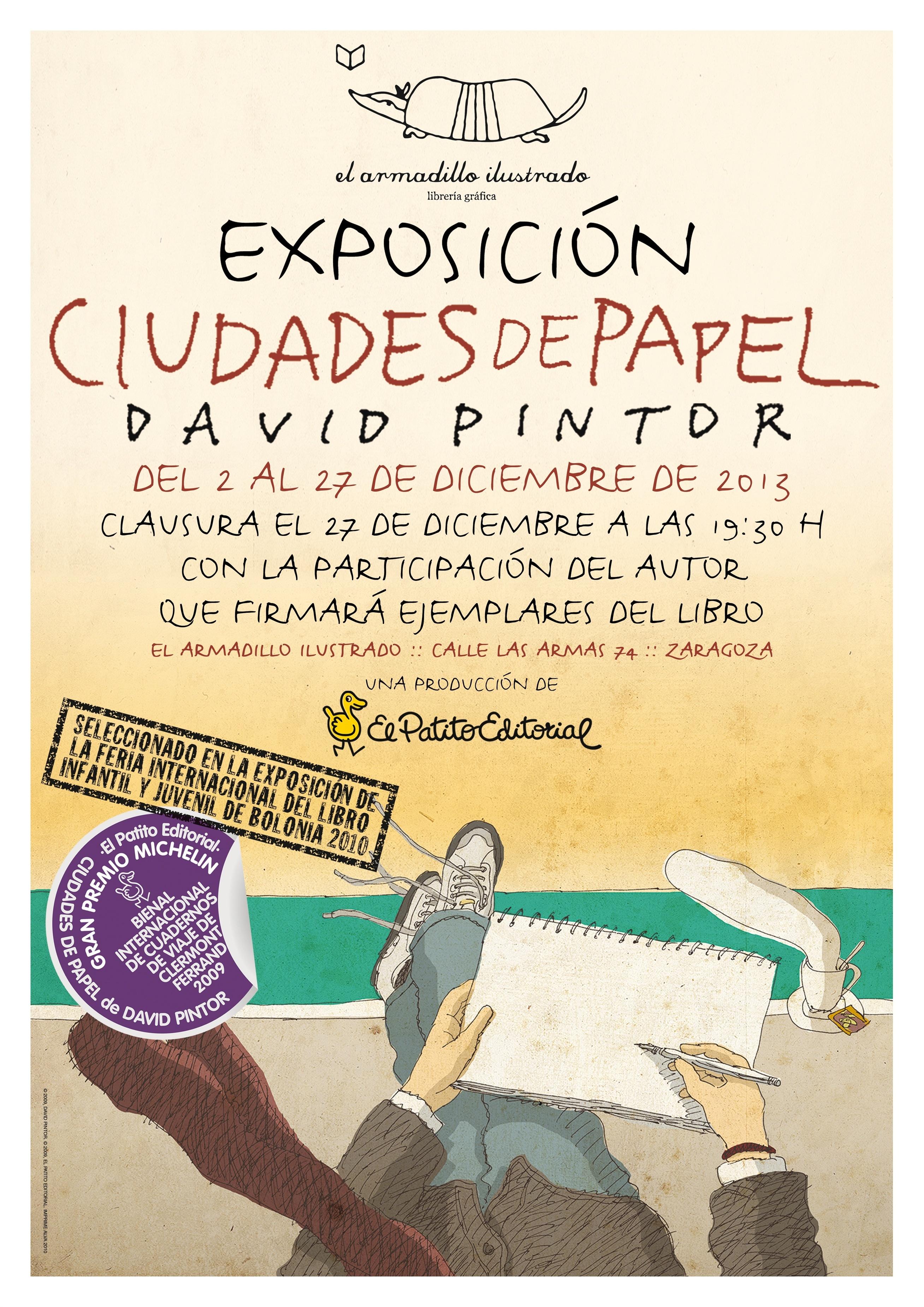 La Librería El Armadillo Ilustrado presentará este viernes el libro »Ciudades de papel»
