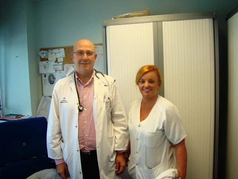 El doctor Planas y la enfermera March, nombrados coordinadores del Grupo Multidisciplinario de Accesos Vasculares