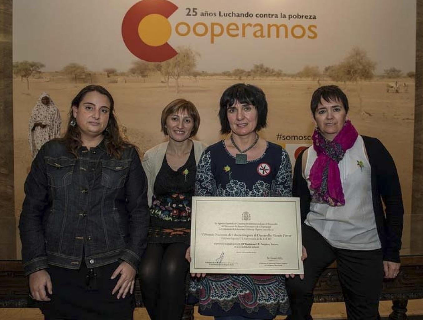 El colegio Buztintxuri, reconocido con el V Premio Nacional Vicente Ferrer