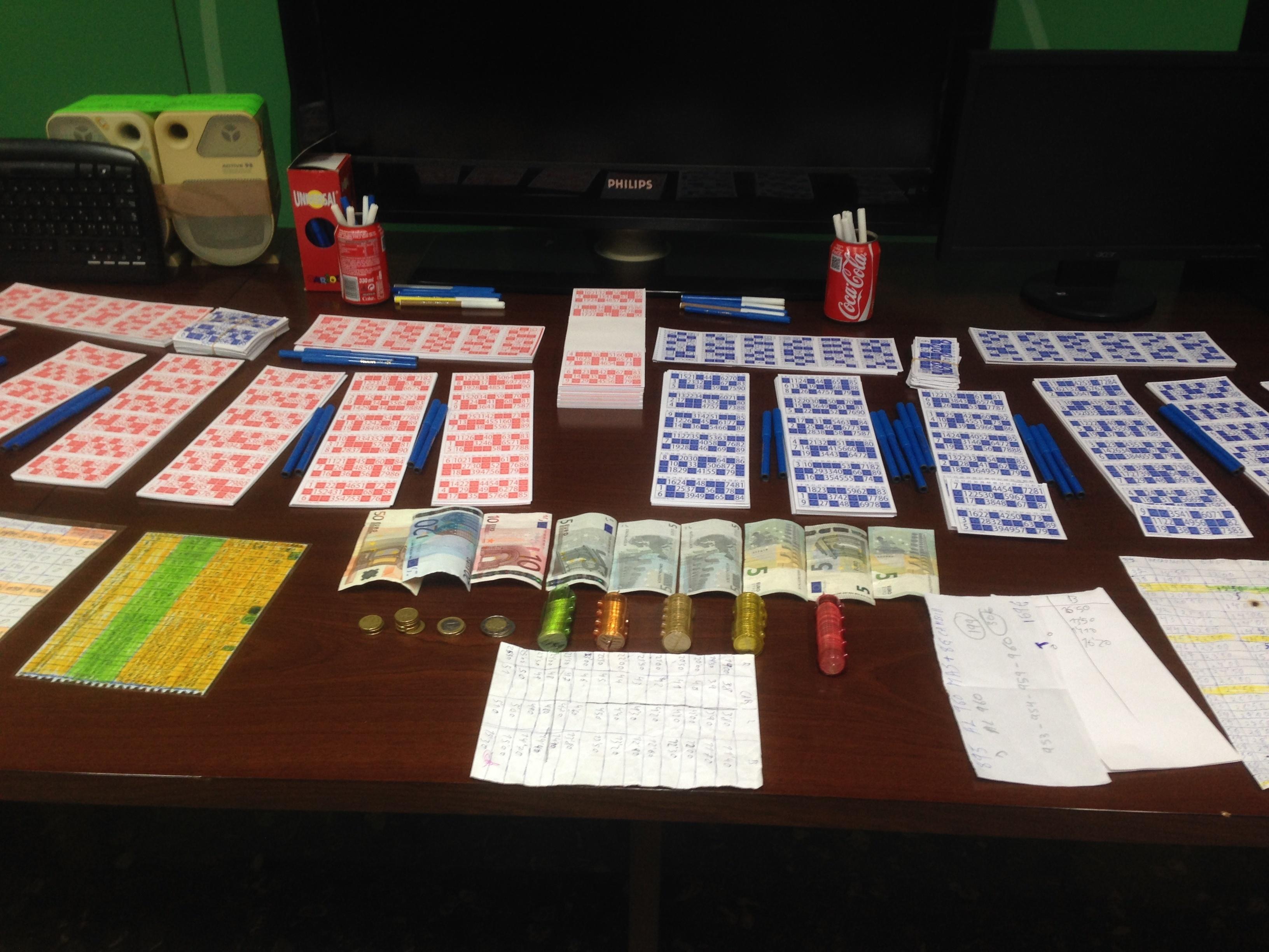 Desmantelan un bingo ilegal en Cártama e intervienen más de 3.000 cartones de juego