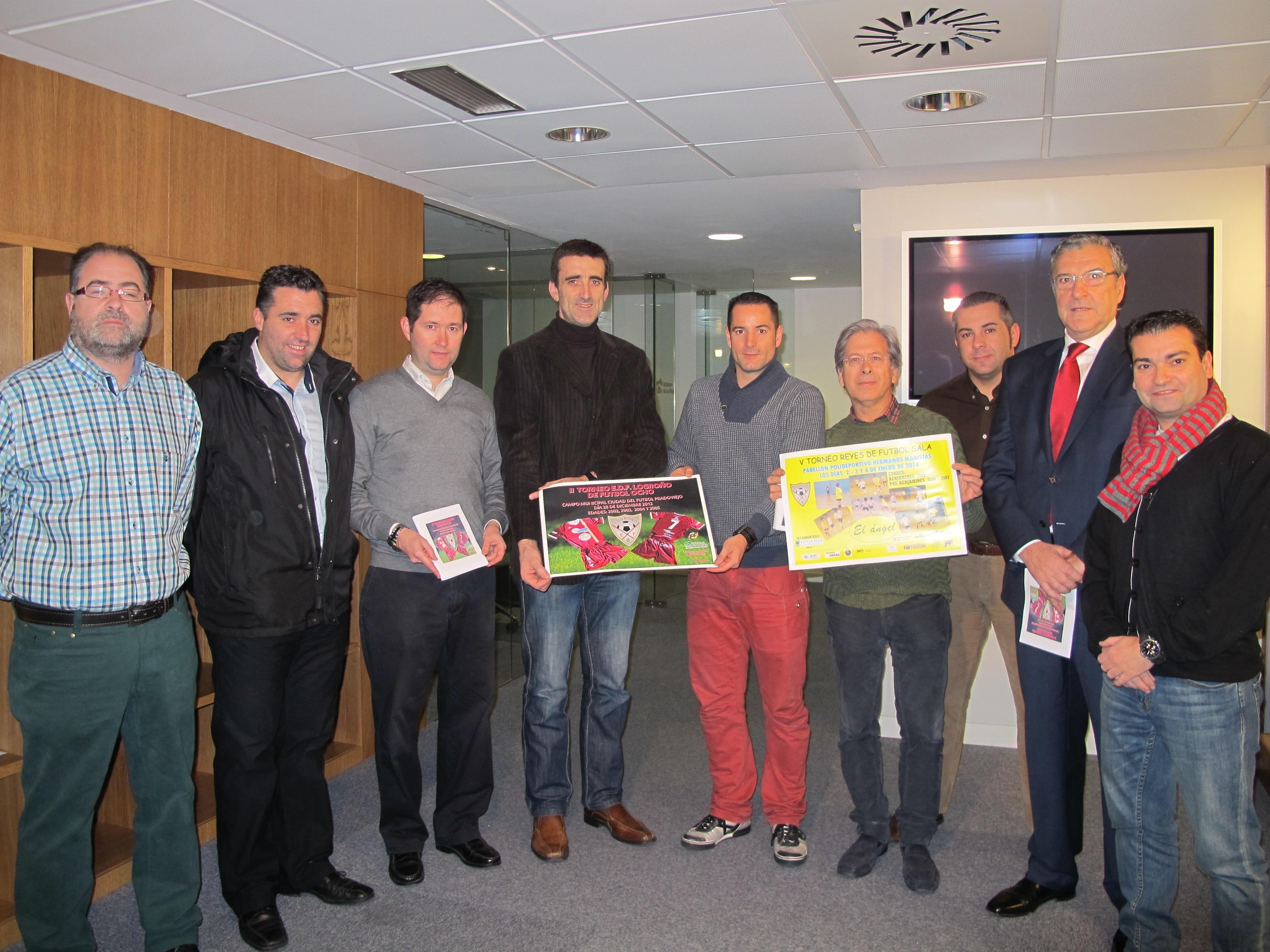 Moreno ha presentado el V Torneo Reyes »El Ángel» de fútbol sala y el II Torneo E.D.F. Logroño de Fútbol Ocho