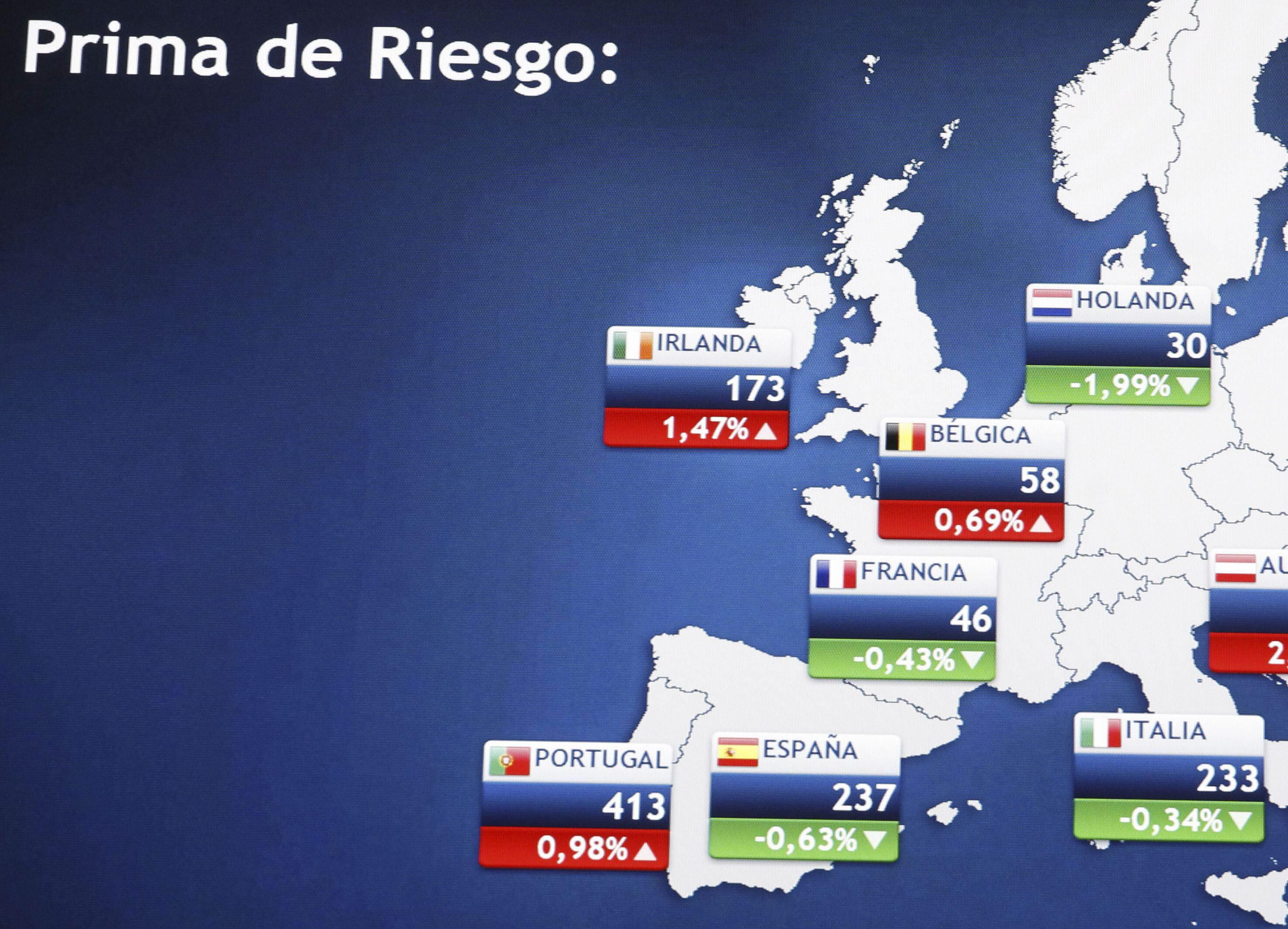 La prima de riesgo de España abre al alza en 235 puntos básicos