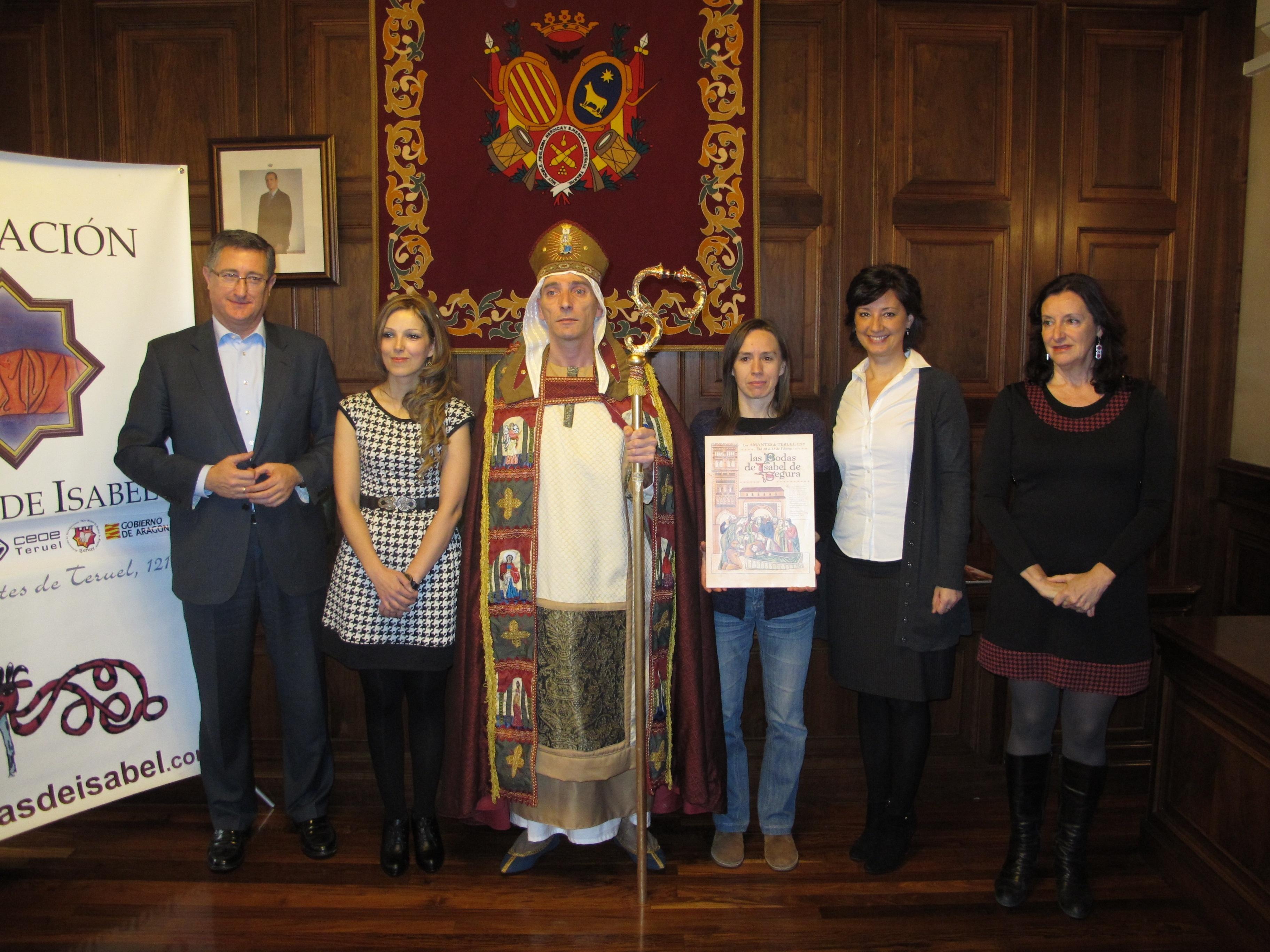 El cartel »Amor Incondicional» anunciará Las Bodas de Isabel 2014 en Teruel