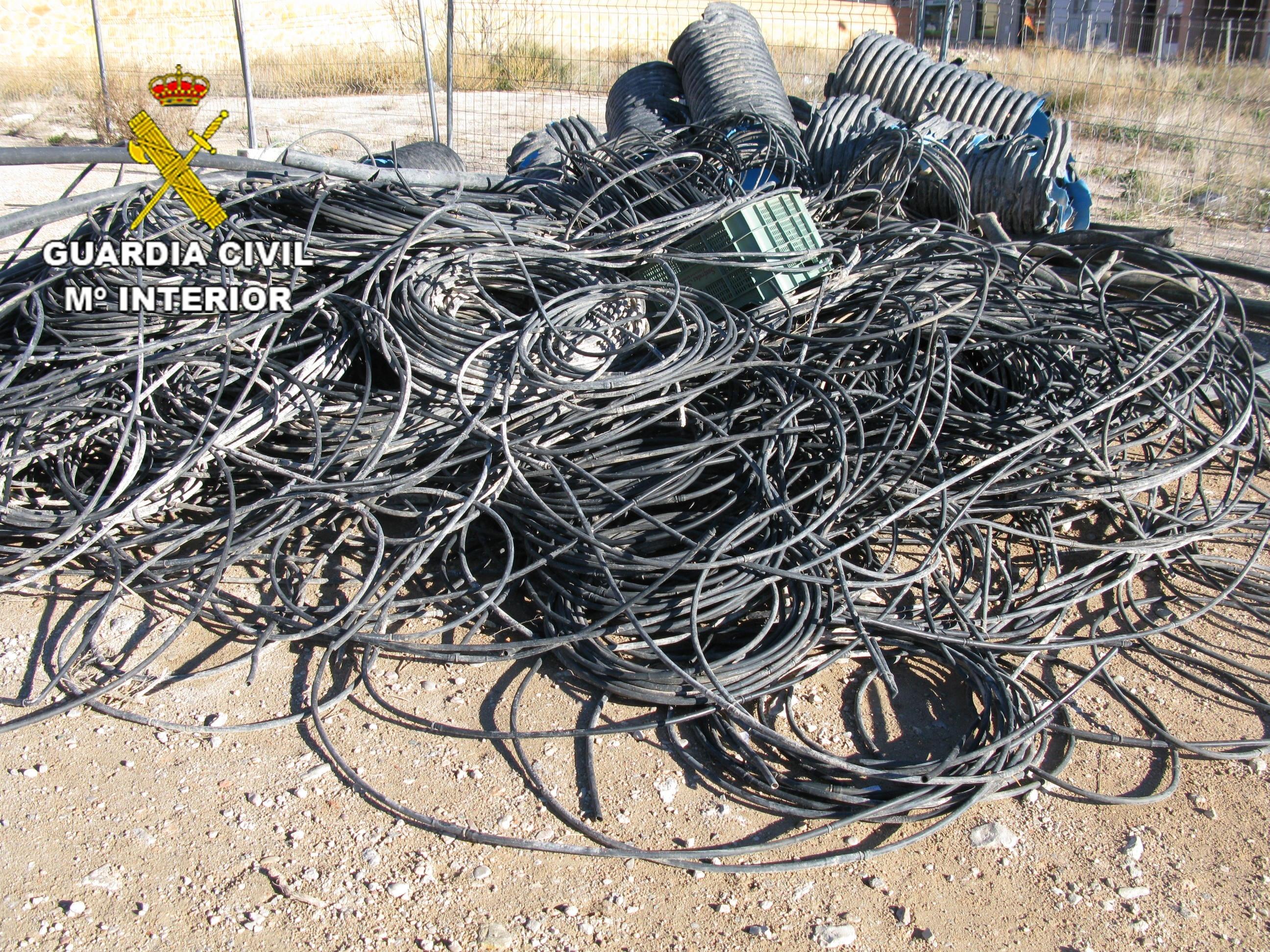Detenidos en Albacete por sustraer 5 kilómetros de tubo de goma para regadío valorados en 750 euros
