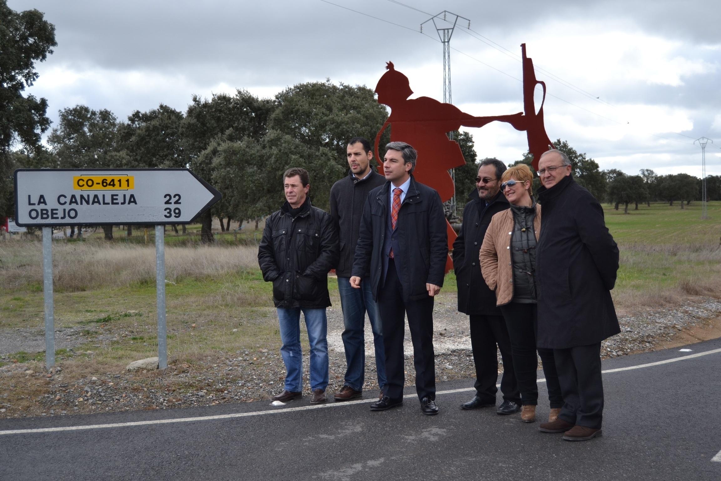 La Diputación culmina la obra de mejora de la CO-6411 »De la Canaleja», que une Pozoblanco y Obejo
