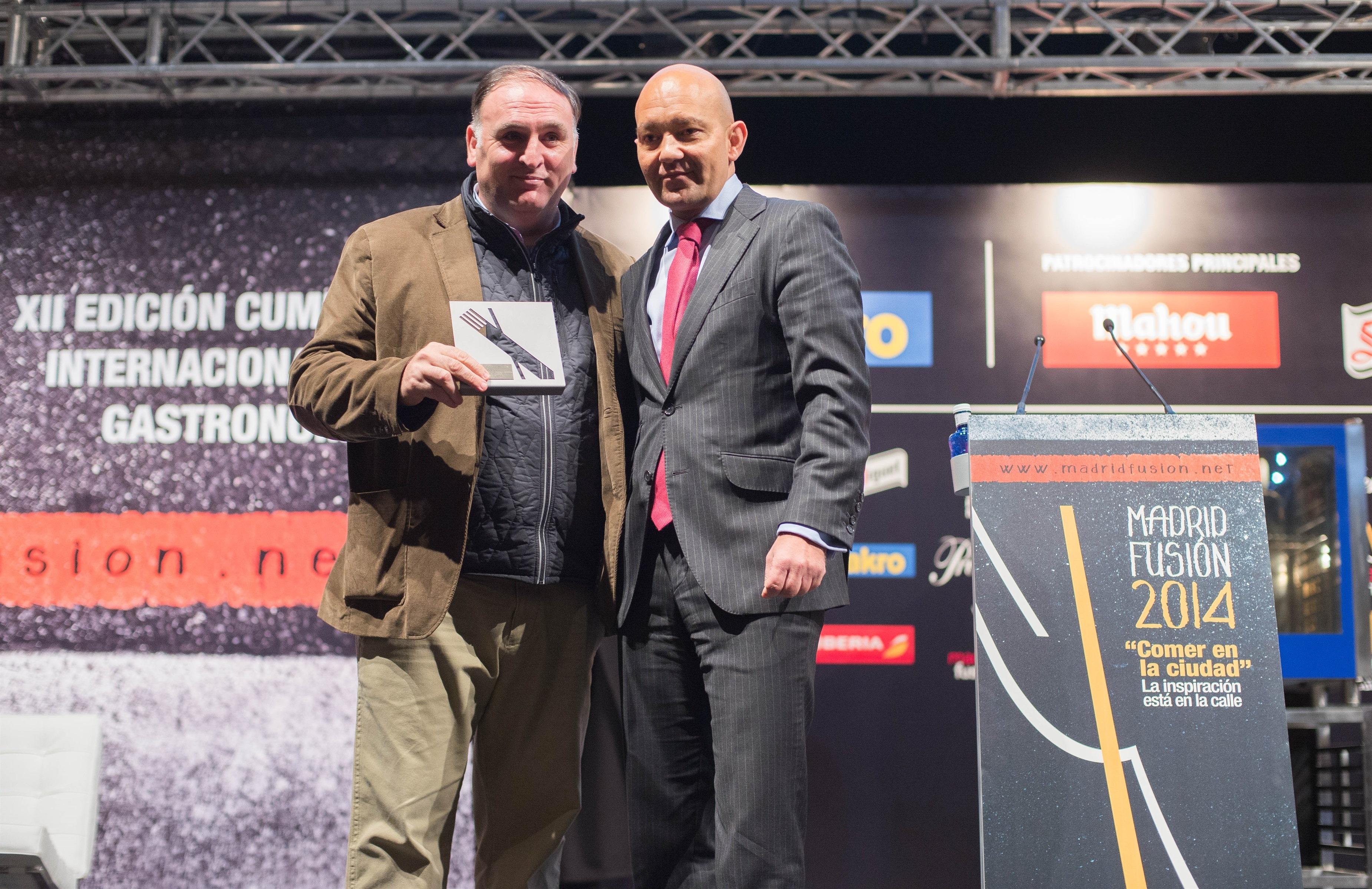 José Andrés recoge el Premio »Exportando España» por contribuir a la internacionalización de gastronomía