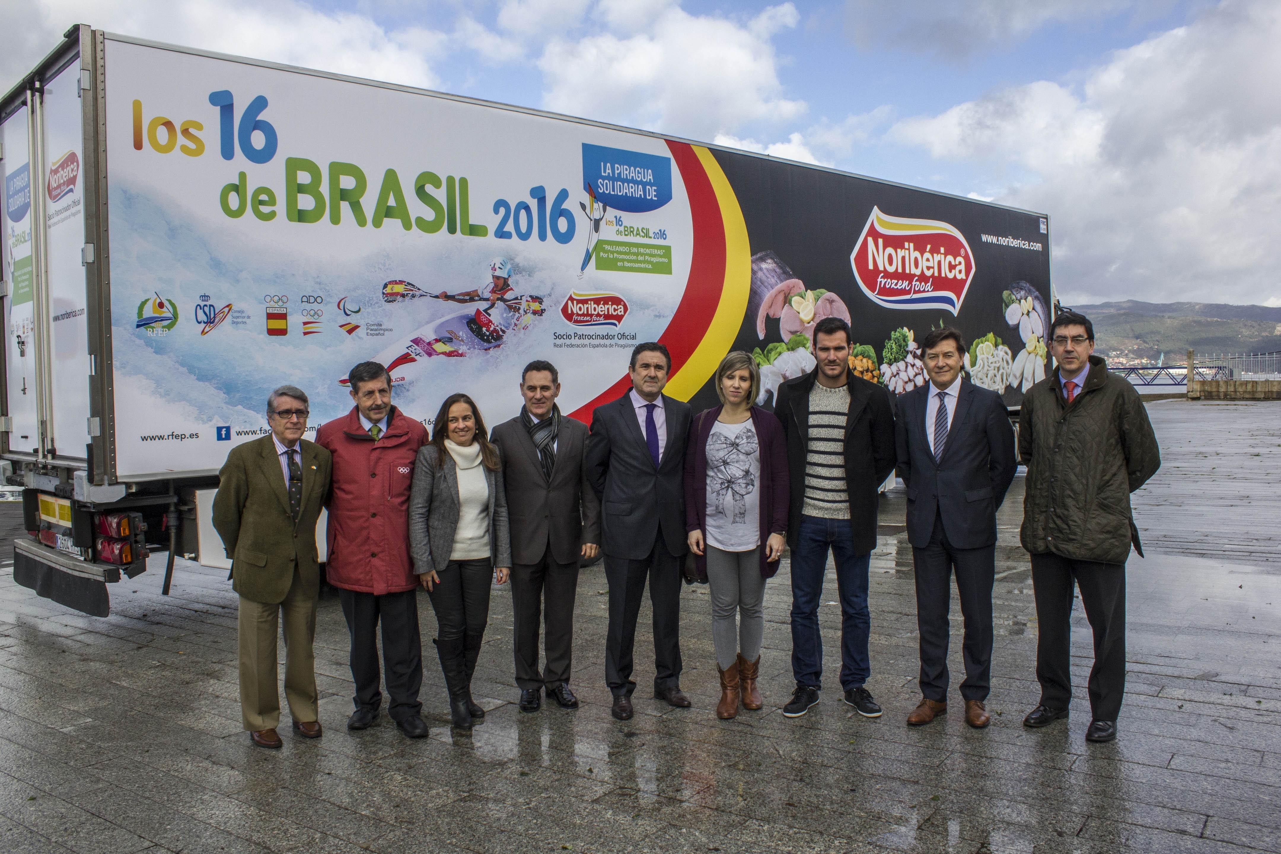 Noribérica reafirma su apuesta por el piragüismo español uniéndose a »Los 16 de Brasil 2016»