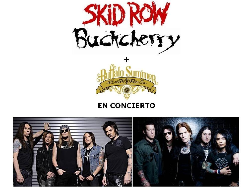 La gira conjunta de Skid Row y Buckcherry visitará Barcelona, Bilbao y Madrid