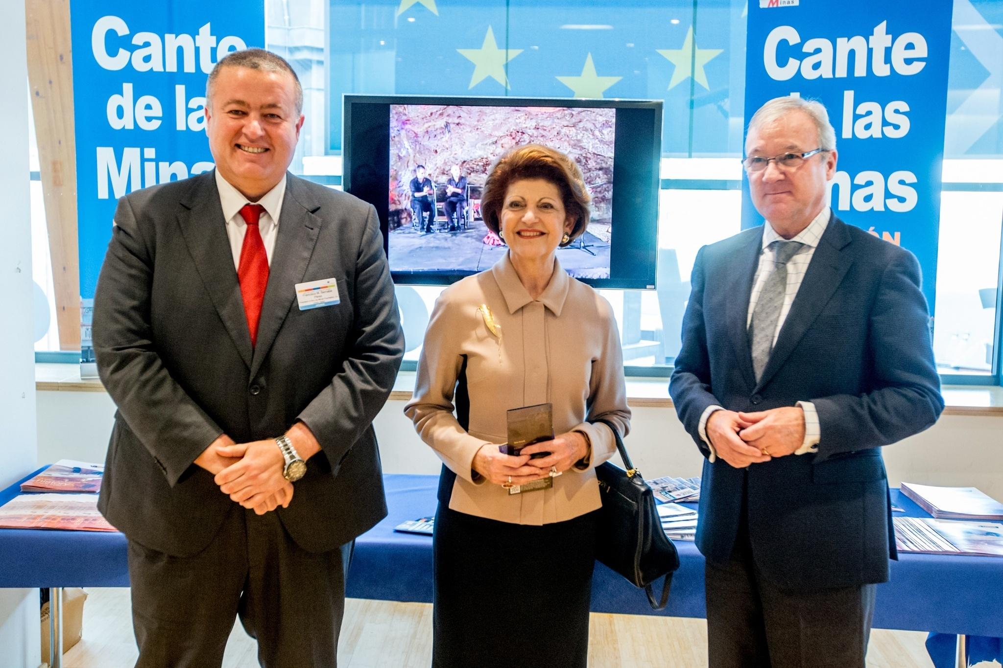 Valcárcel lleva hasta Bruselas el éxito en la gestión cultural y promoción del Festival del Cante de las Minas