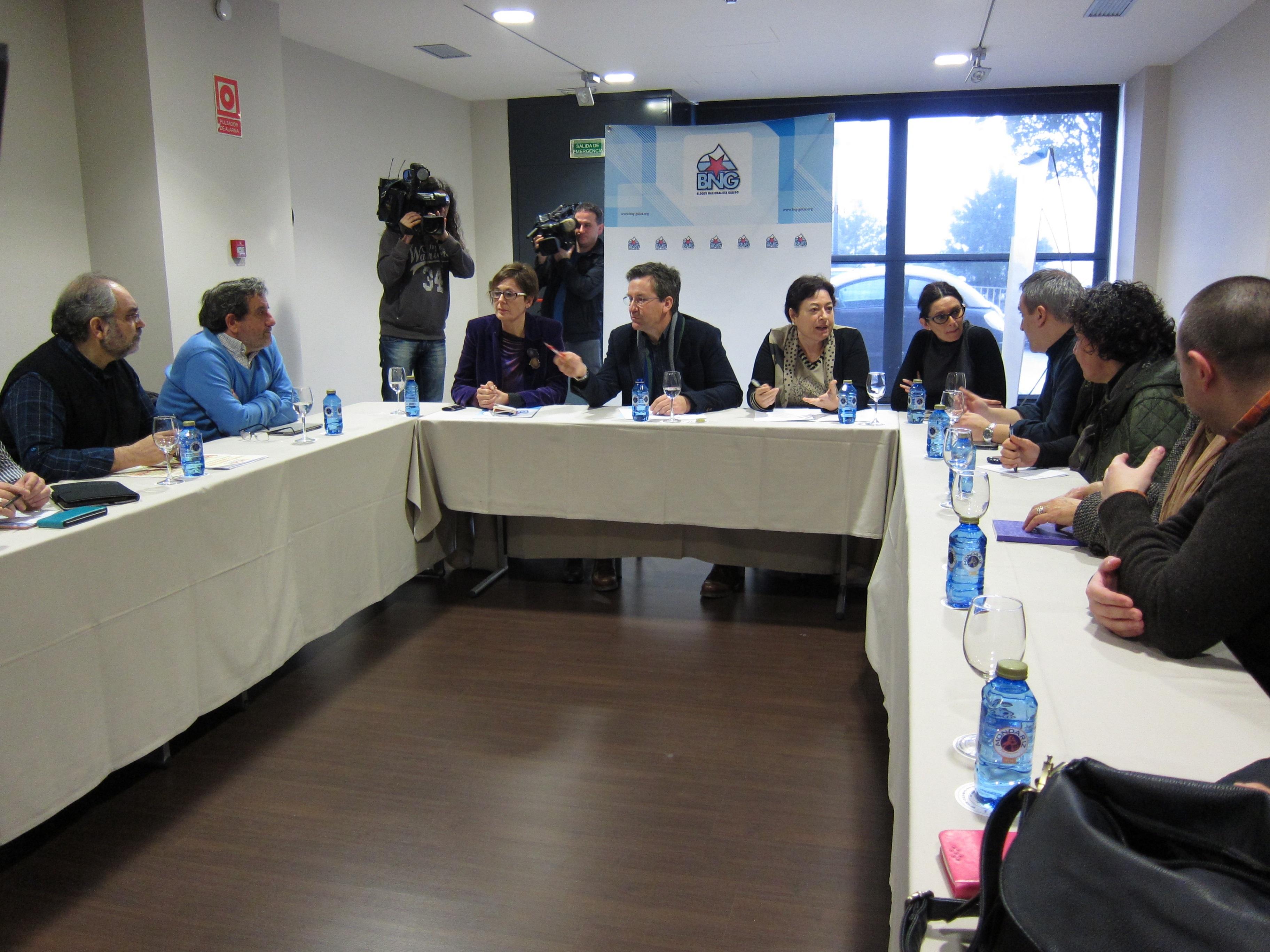 El BNG y la plataforma SOS Sanidade Pública llaman a la ciudadanía para que se una a la manifestación del 13 de febrero