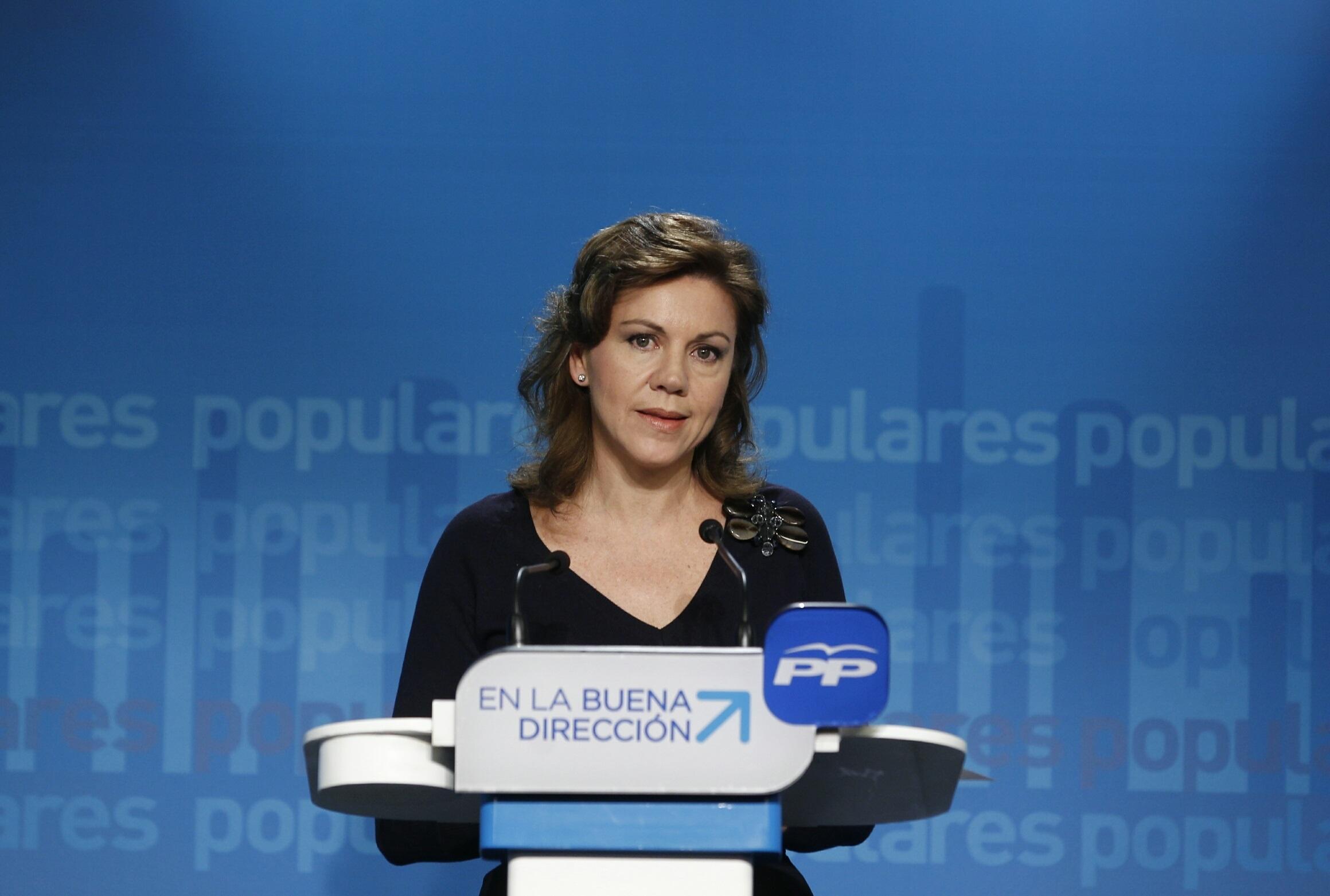 Cospedal ve «bastante improbable» que este fin de semana se anuncie el candidato del PP a las europeas