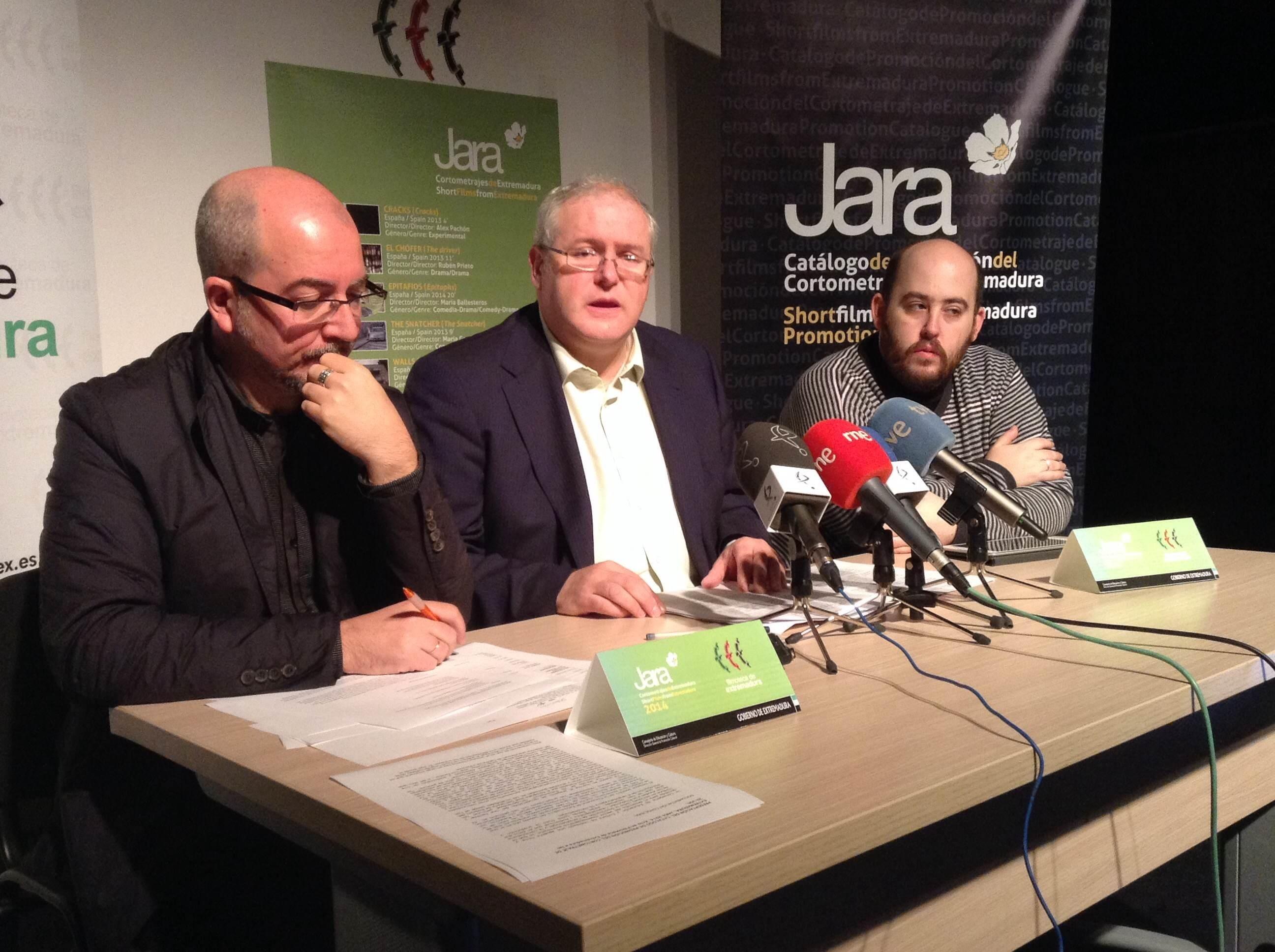 El catálogo »Jara» de promoción del cortometraje incluye en 2014 cinco obras con denominación de origen extremeña