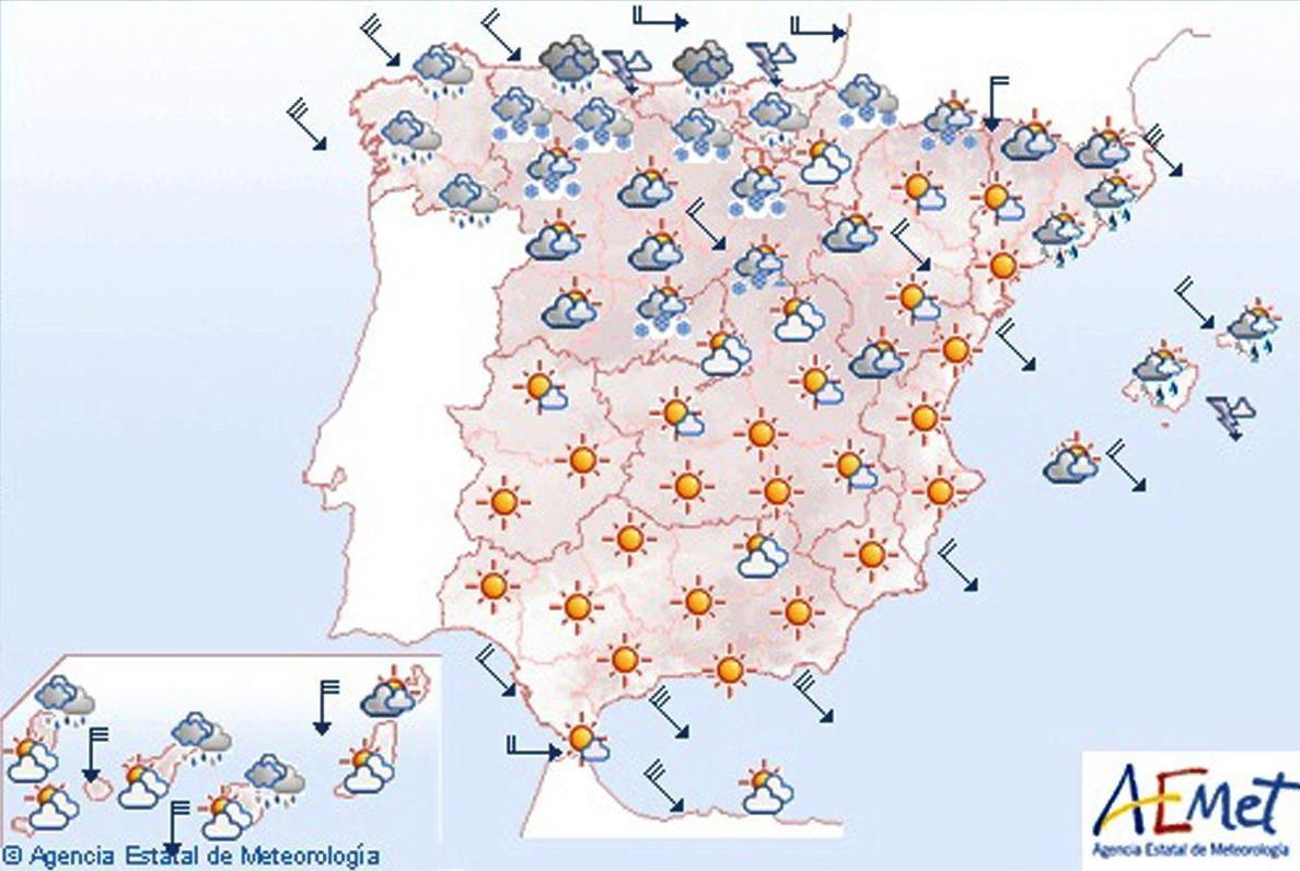 Lluvias fuertes en el litoral cantábrico