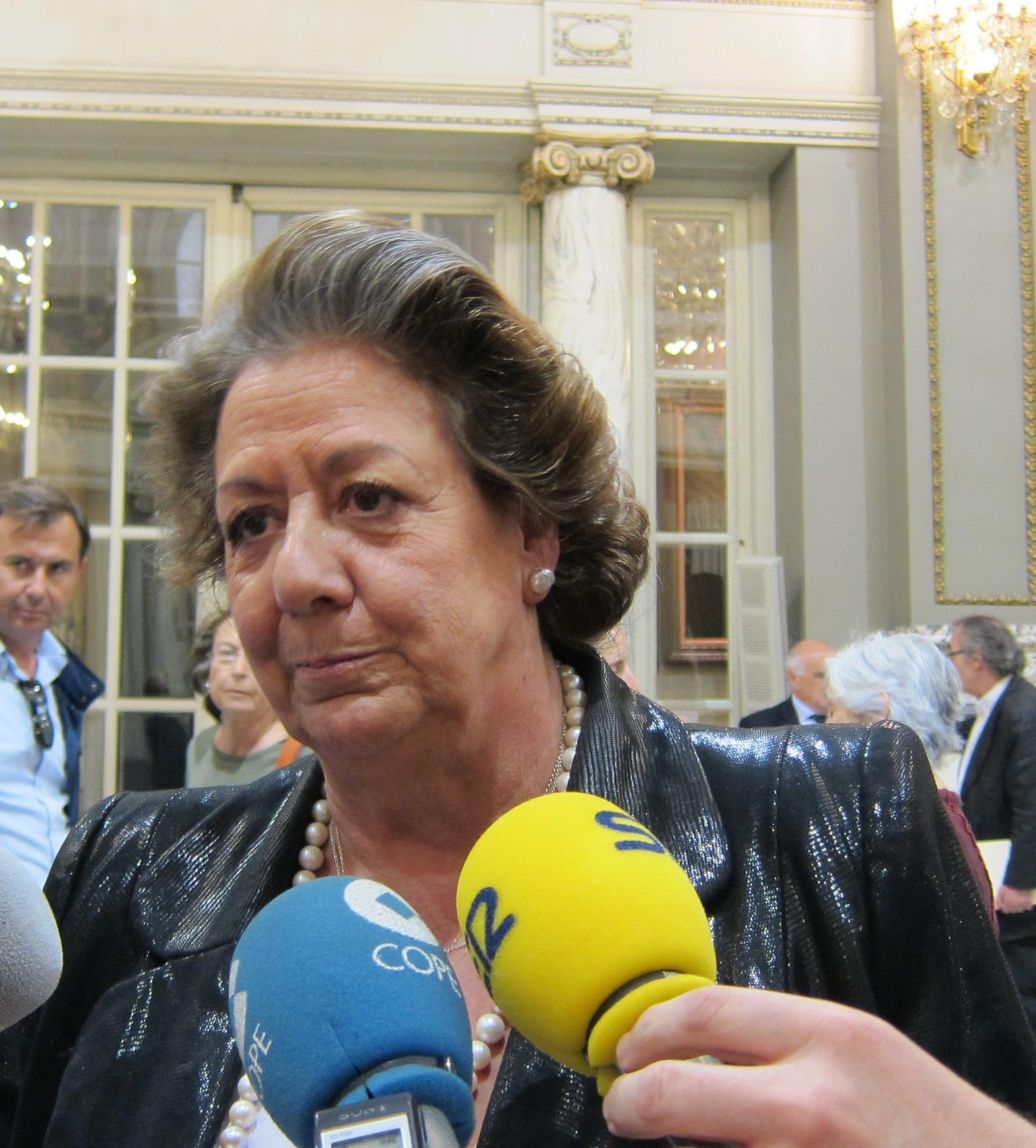 Rita Barberá niega ruptura en el seno del PP aunque «hay mucha gente interesada» en que exista