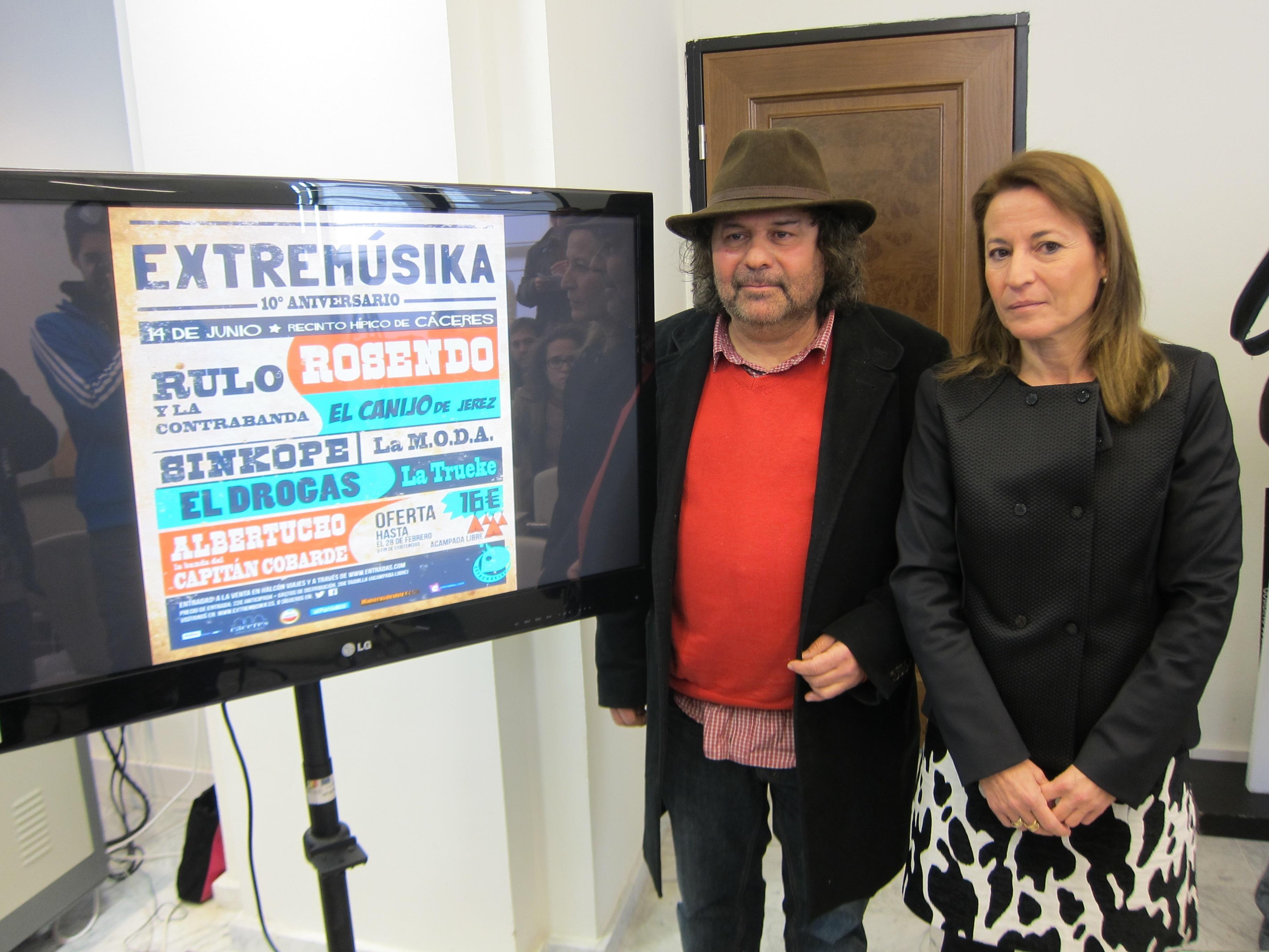 El festival »Extremúsika» vuelve a Cáceres en junio con Rosendo como cabeza de cartel