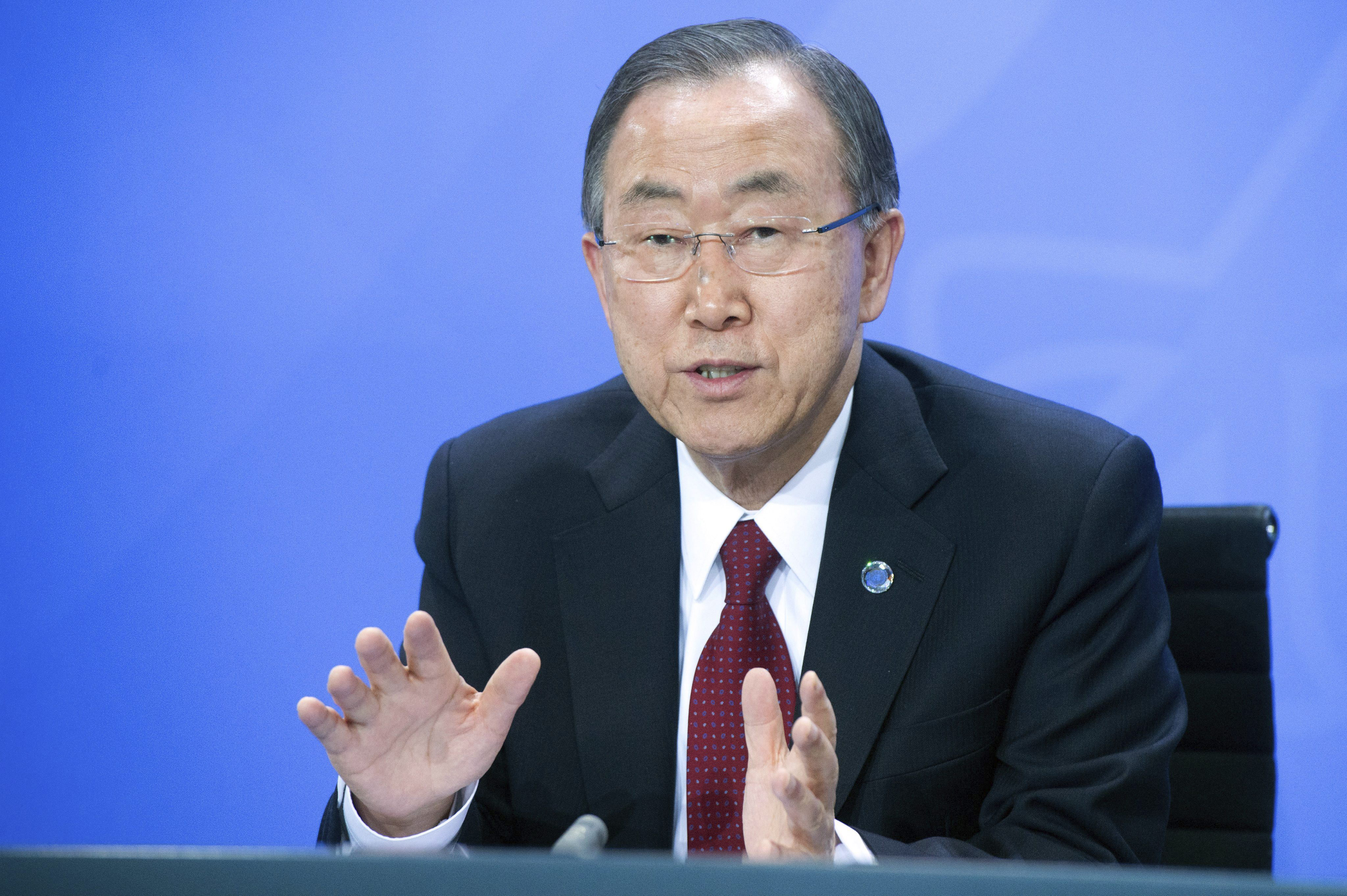 Ban Ki-moon pide a EEUU y Rusia presión para que gobierno y oposición siria vuelvan a negociar