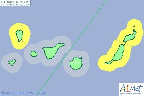La Palma, Lanzarote y Fuerteventura, en prealerta por fenómenos costeros adversos