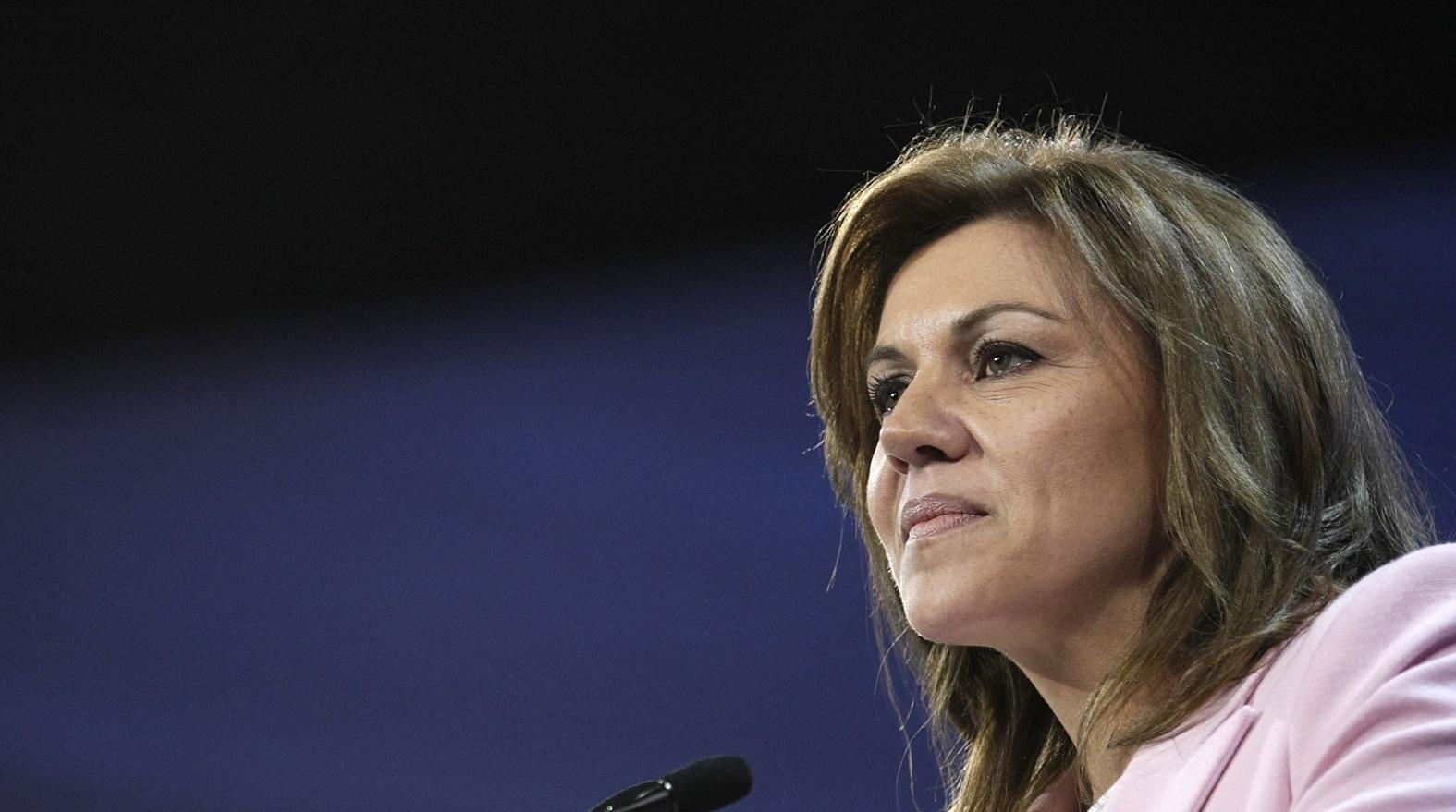 Cospedal asegura que la elección del candidato del PP-A, que llegará «pronto», no implicará una crisis de Gobierno