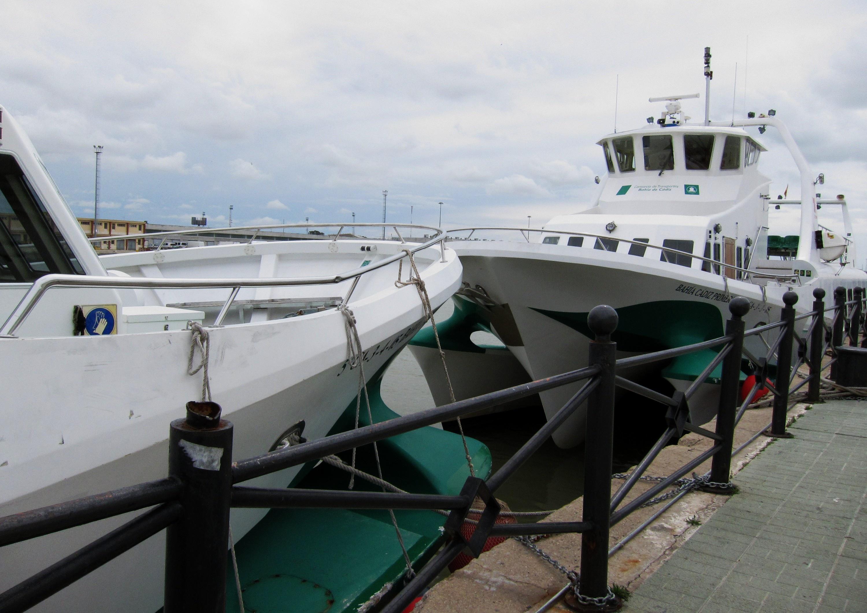 Suspendidas las conexiones marítimas entre Cádiz y Rota por el mal tiempo