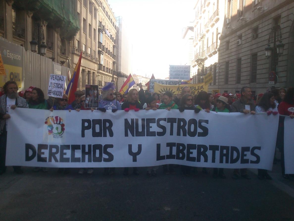 La Marea Ciudadana vuelve a protestar contra los «recortes» del Gobierno