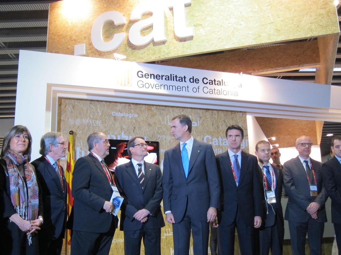 El Príncipe inaugura el congreso con Mas, Soria y los alcaldes Marín y Trias