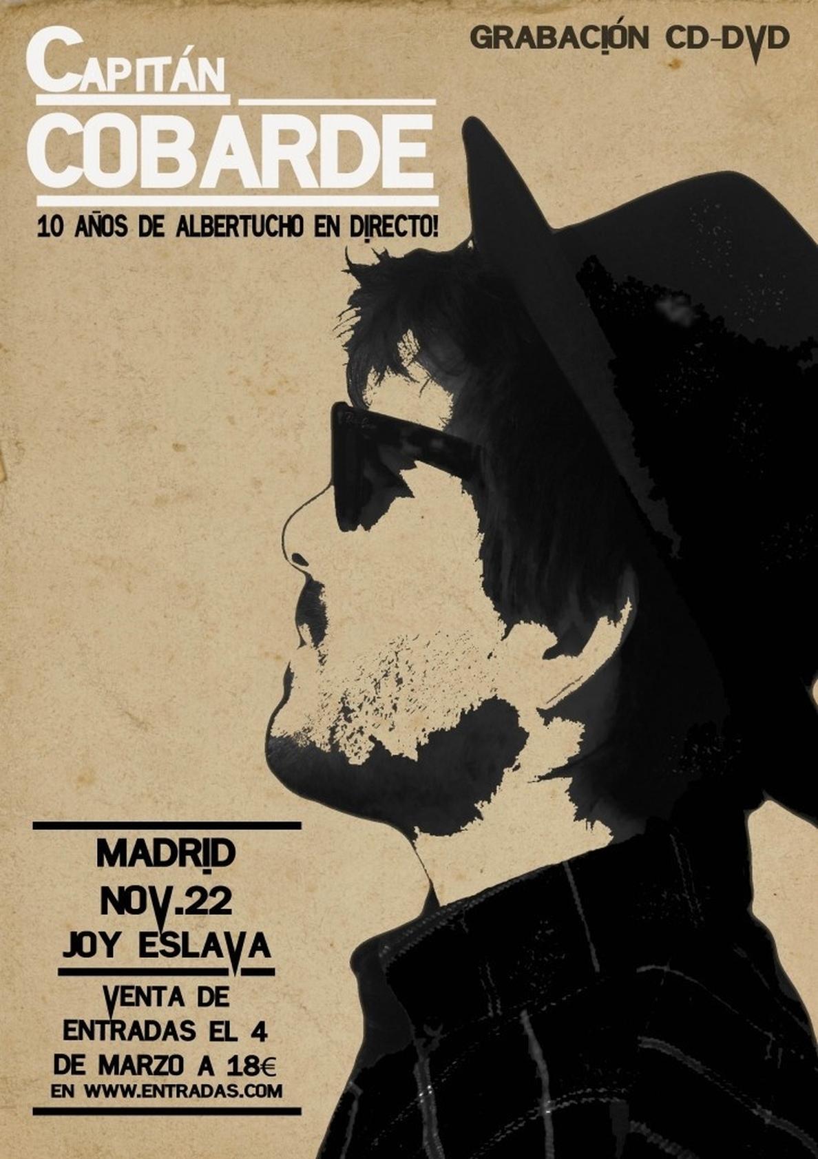 Albertucho grabará un álbum en directo en la sala Joy Eslava