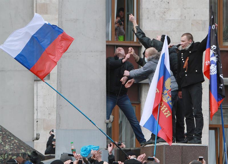 Los prorrusos preparan una gran manifestación en el este de Ucrania