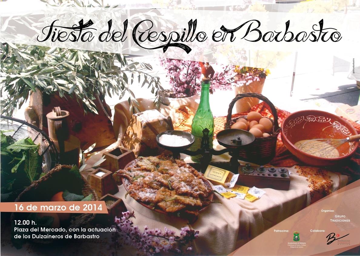 Barbastro prepara la Fiesta del Crespillo, que se celebra el 16 de marzo