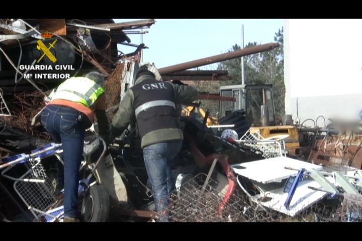 La Guardia Civil interviene cerca de 10 toneladas de cobre y tramita 782 denuncias tras una jornada de inspecciones