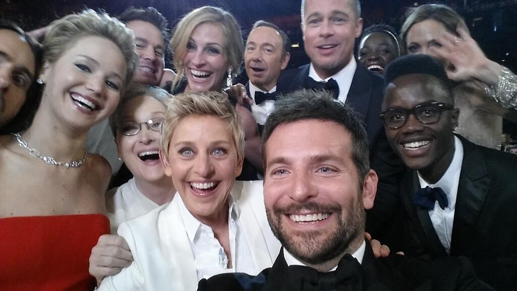 La última gala de los Oscar dispara el uso del término »selfie» entre los tuiteros españoles