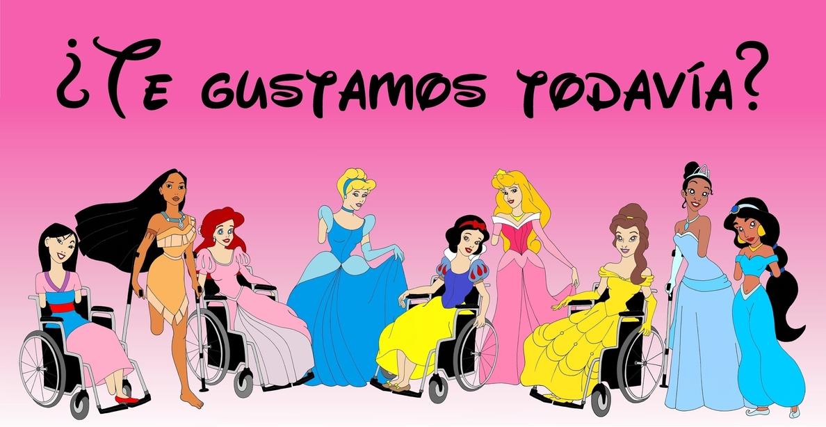 Blancanieves en silla de ruedas o Mulan sin brazos contra la discriminación a los discapacitados