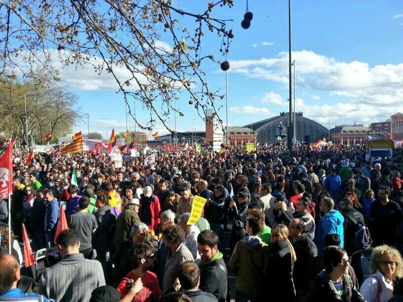Ayuntamiento de Madrid calcula que coste por las Marchas de la Dignidad asciende a más de 655.000 euros
