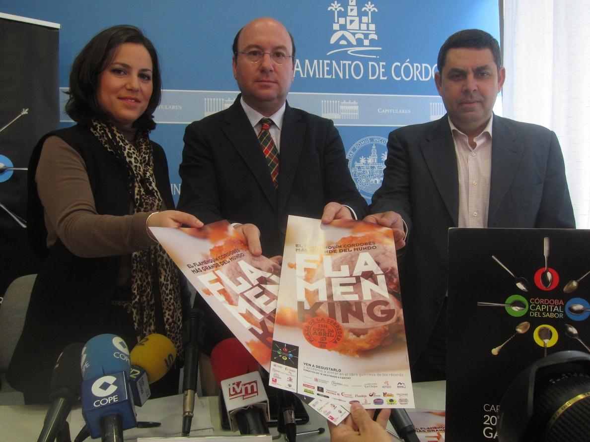 Córdoba prevé entrar este domingo en el Libro Guinness con el récord del flamenquín más grande del mundo