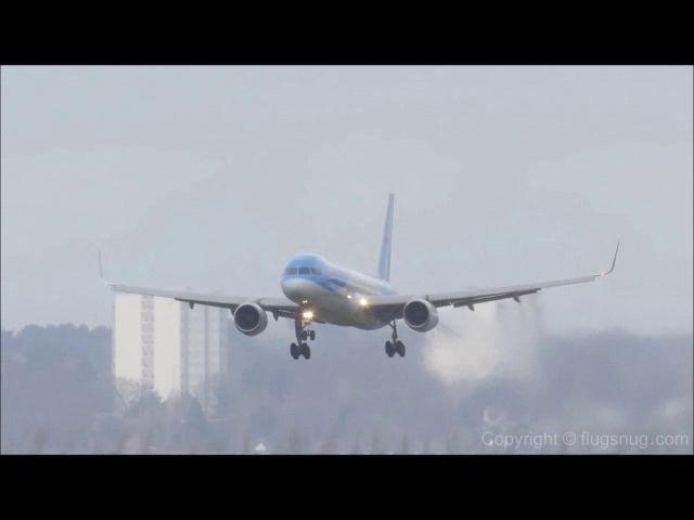 Aterradores intentos de aterrizaje en este aeropuerto inglés