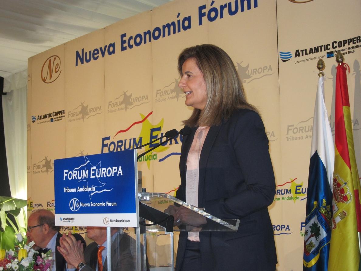 Báñez anuncia que Andalucía recibirá más de 2.700 millones para políticas de empleo entre 2014 y 2020