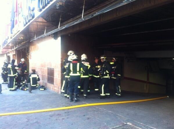 Once heridos leves en el incendio de un hotel en Leganés (Madrid)
