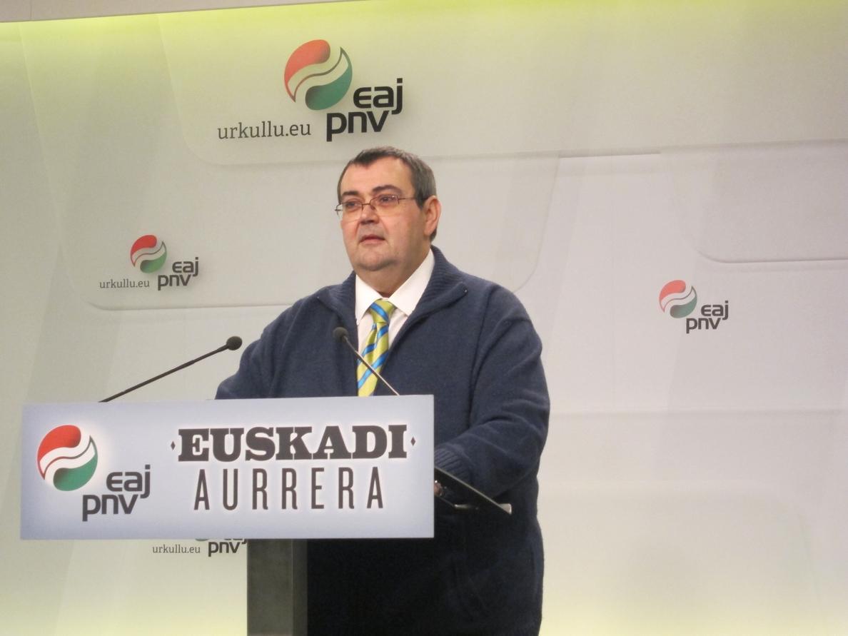 PNV respaldará la iniciativa del Parlament y asegura que los casos vasco y catalán no se encauzará con «la cerrazón»