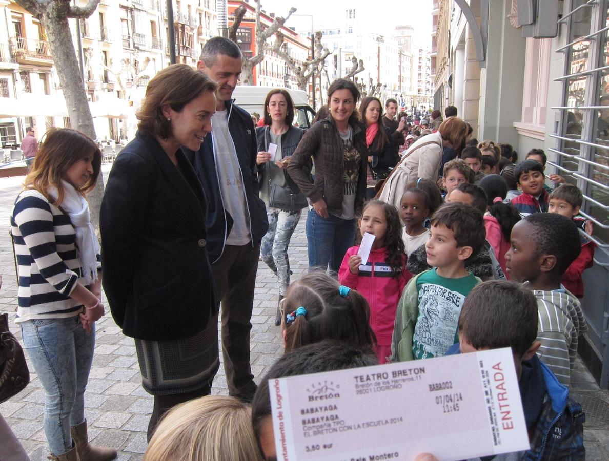 Unos 300 escolares de 7 centros de La Rioja abren la 18 edición de la campaña »El Bretón con la escuela»