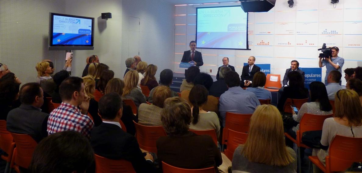 Castellano dice que la aportación de la Comunitat Valenciana a Europa es «fundamental»