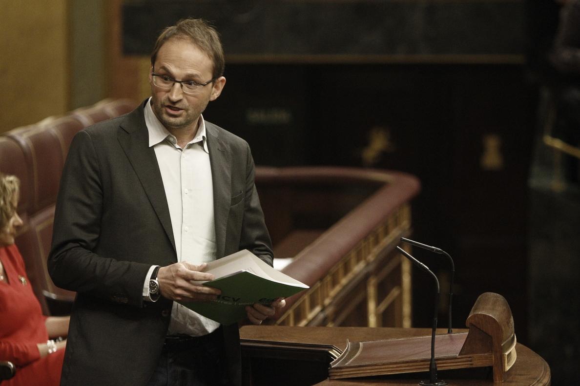 Herrera (ICV) avisa de que cuanto más tarden PP y PSOE en  «encarar el reto», «más difícil» será la solución