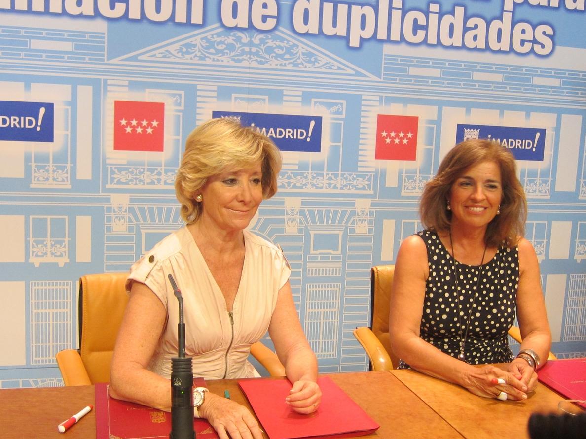 Aguirre y Botella coinciden esta tarde por primera vez tras el incidente con los agentes de movilidad