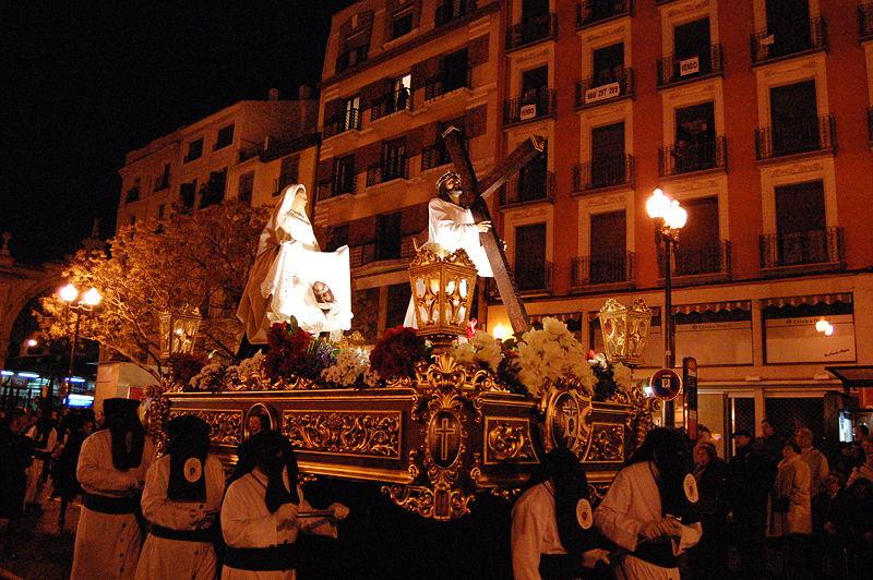 Horarios e Itinerarios de las procesiones de Zaragoza en Semana Santa 2014