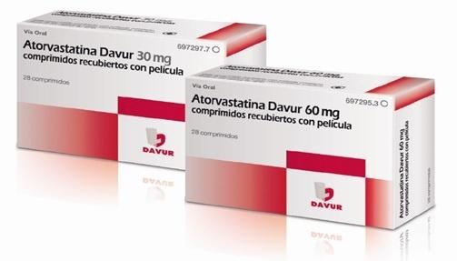 Davur lanza »Atorvastatina» de 30 mg y 60 mg para el tratamiento de la hipercolesterolemia