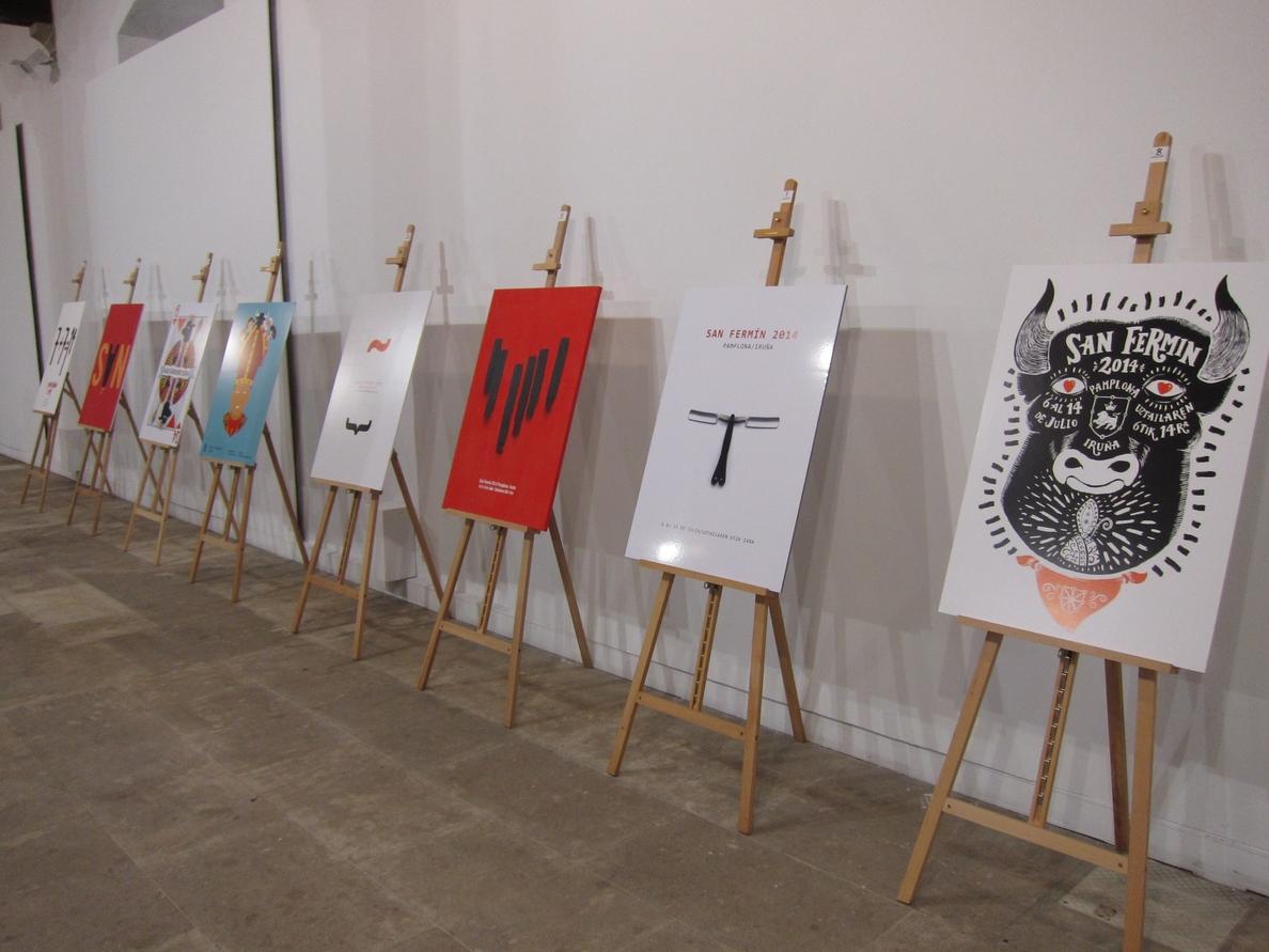 Elegidos los finalistas del concurso de carteles de San Fermín, que podrán votar los pamploneses hasta el 28 de abril